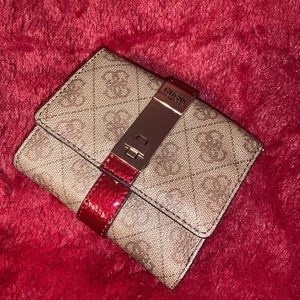 Guess Asher Logo Trifold Wallet